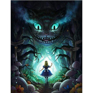5D Diamond Painting Alice Cheshire Cat Tunnel Kit