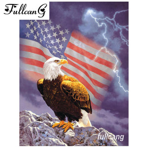 5D Diamond Painting American National Flag Kit