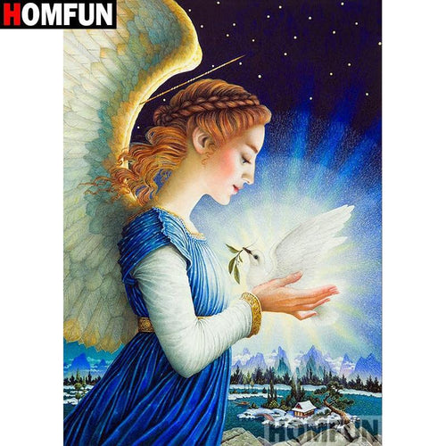 5D Diamond Painting Angel and Dove Kit
