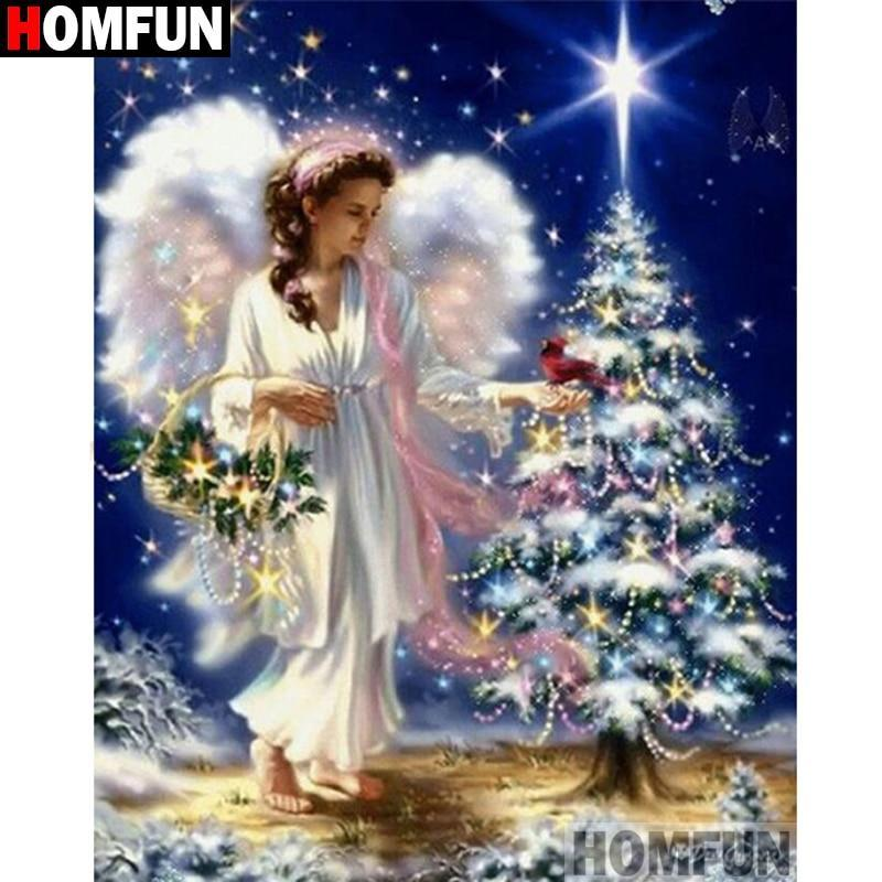 5D Diamond Painting Angel Chrstmas Tree Kit