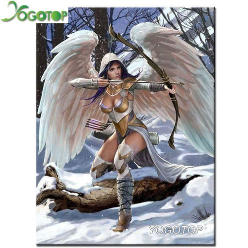 5D Diamond Painting Angel Warrior Kit