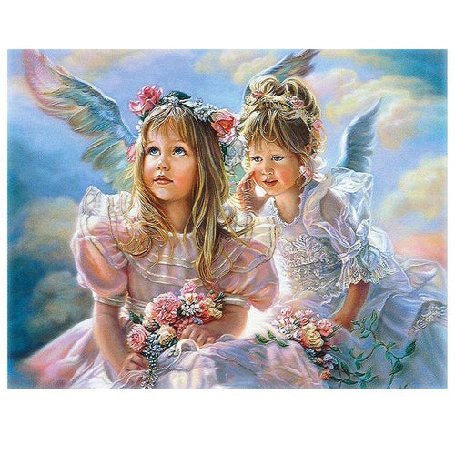 5D Diamond Painting Angel Wing Girls Kit