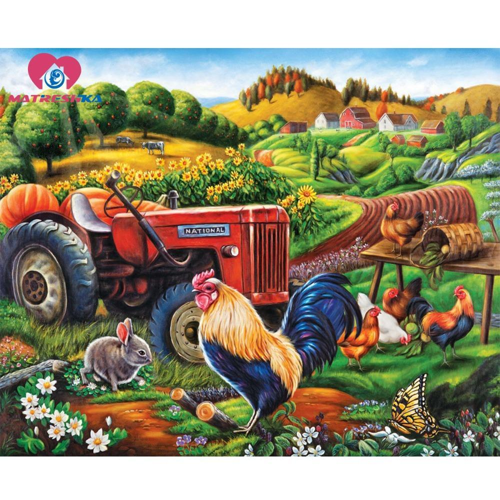 5D Diamond Painting Animal Farm Kit