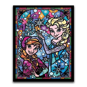 5D Diamond Painting Anna and Elsa Abstract Kit