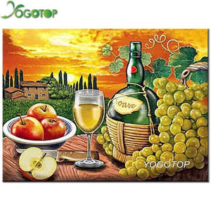 5D Diamond Painting Apples and Grapes Kit