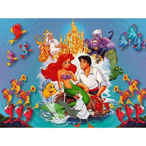 5D Diamond Painting Ariel & Eric Collage Kit