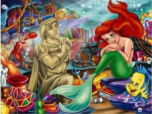 5D Diamond Painting Ariel's Ship of Treasure Kit