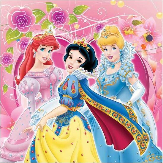5D Diamond Painting Ariel, Snow White & Cinderella Kit