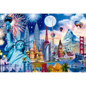 5D Diamond Painting Around the World Kit