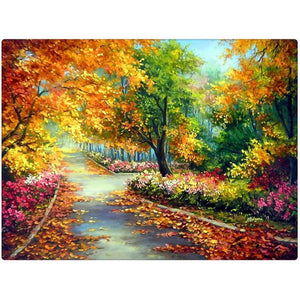 5D Diamond Painting Autumn Pathway Kit