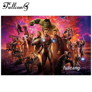 5D Diamond Painting Avengers Collage Kit