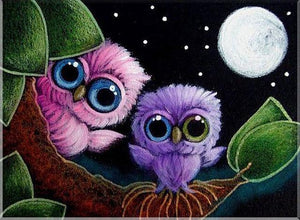 5D Diamond Painting Baby Owls Kit