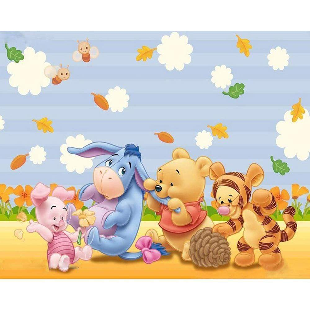 5D Diamond Painting Baby Winnie the Pooh and Tigger Kit