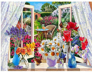 5D Diamond Painting Back Yard View Kit