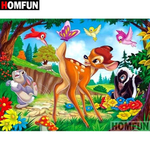 5D Diamond Painting Bambi Butterfly Tail Kit