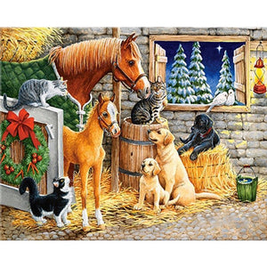5D Diamond Painting Barn Animals Kit
