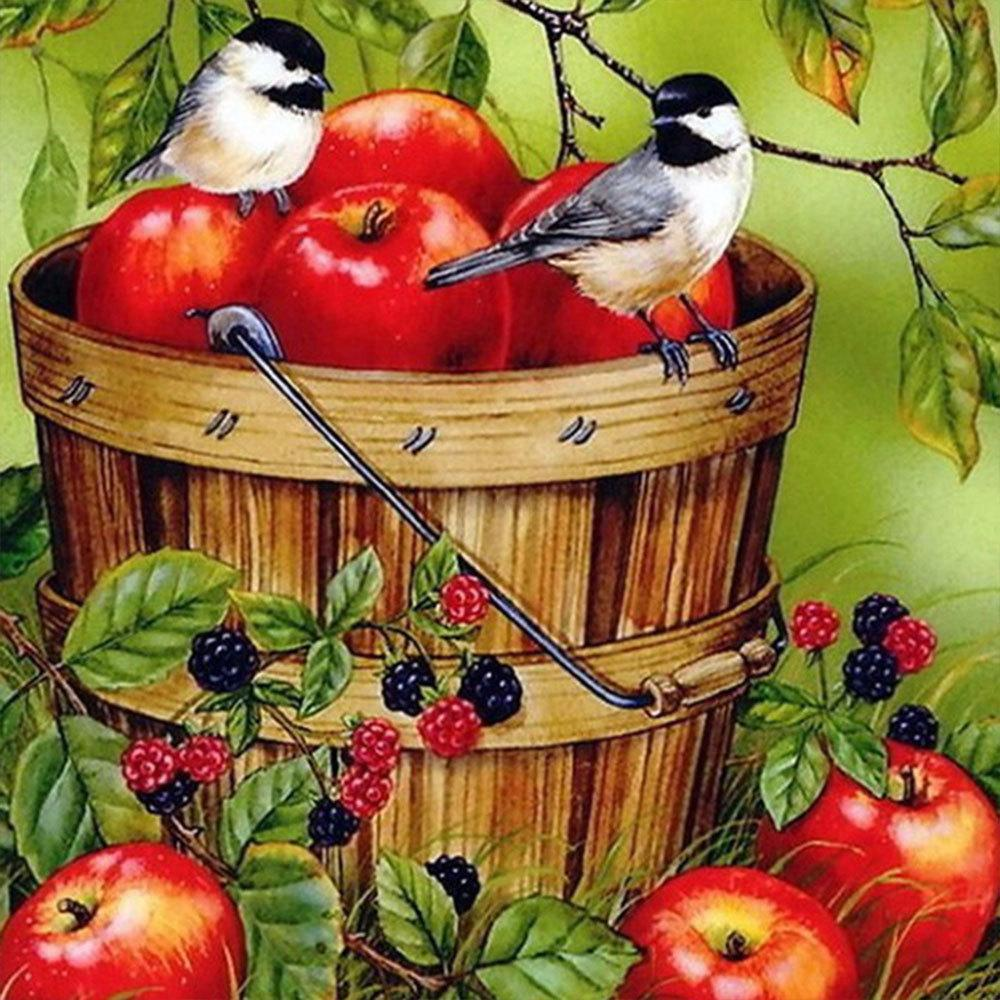5D Diamond Painting Basket of Apples