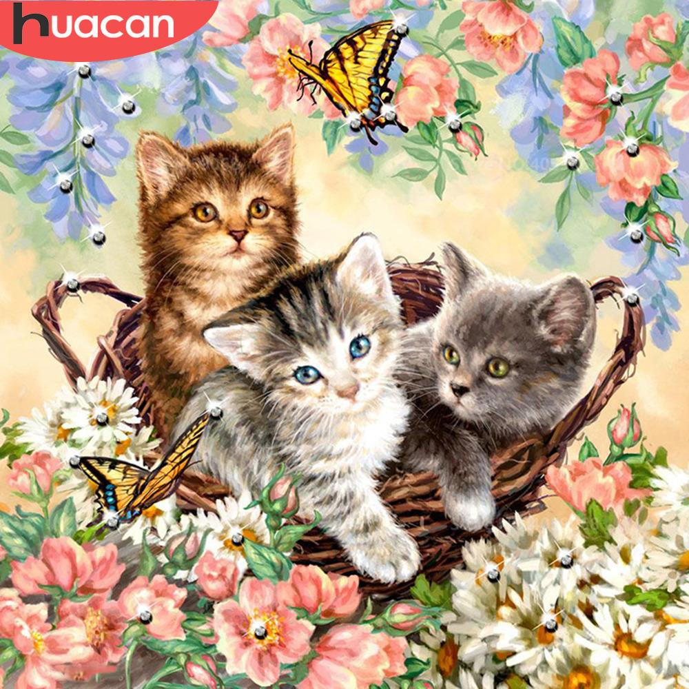 5D Diamond Painting Basket of Kittens Kit