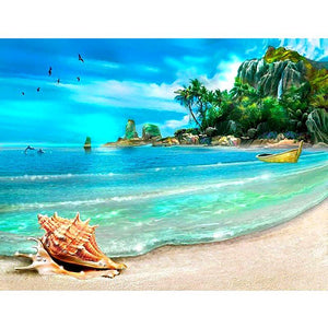 5D Diamond Painting Beach Landscape Kit