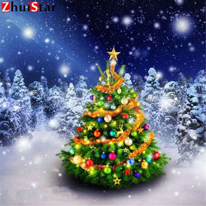 5D Diamond Painting Beautiful Christmas Tree Kit