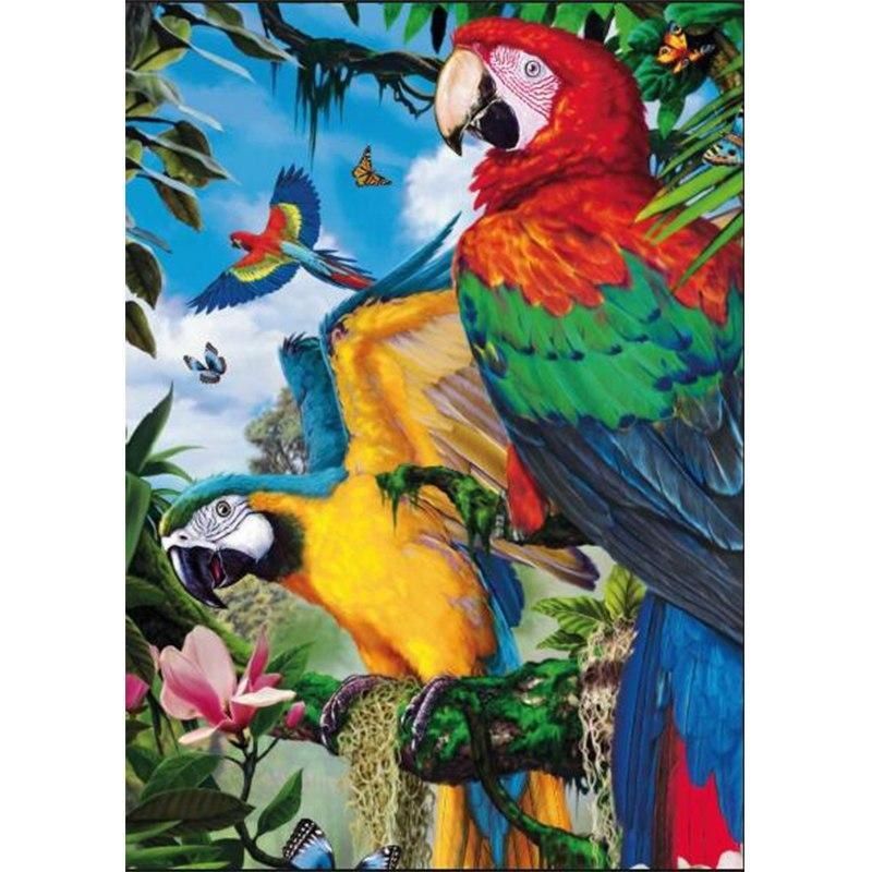 5D Diamond Painting Beautiful Parrots Kit