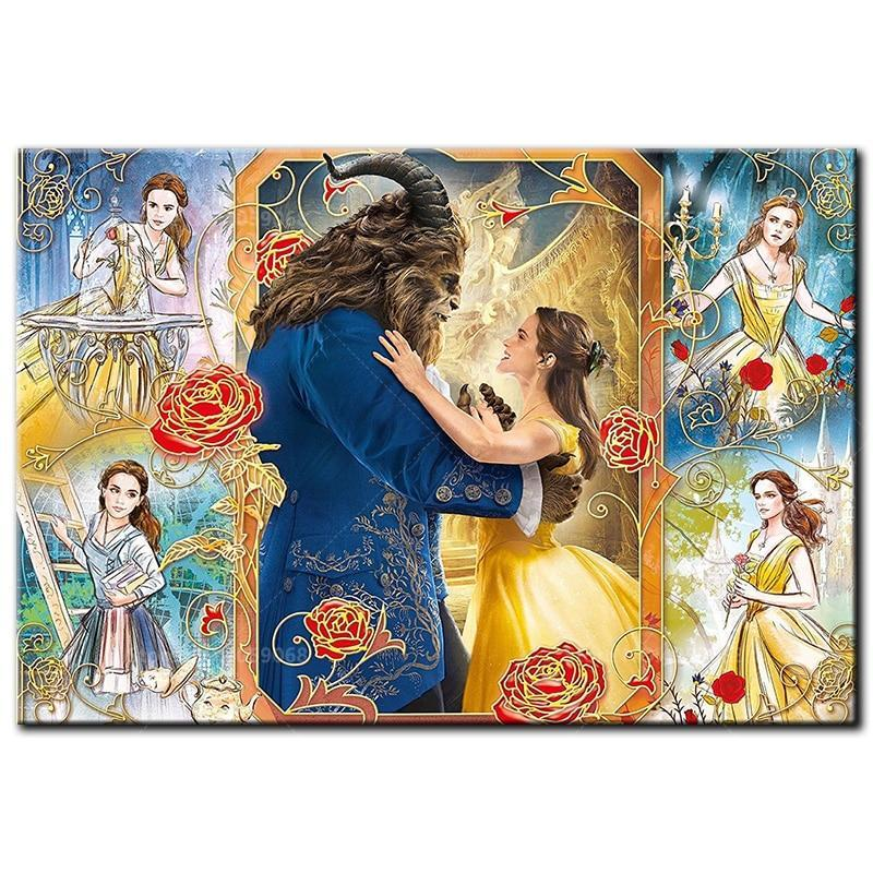 5D Diamond Painting Beauty and The Beast Belle Collage Kit