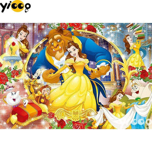 5D Diamond Painting Beauty and the Beast Dancing Collage Kit