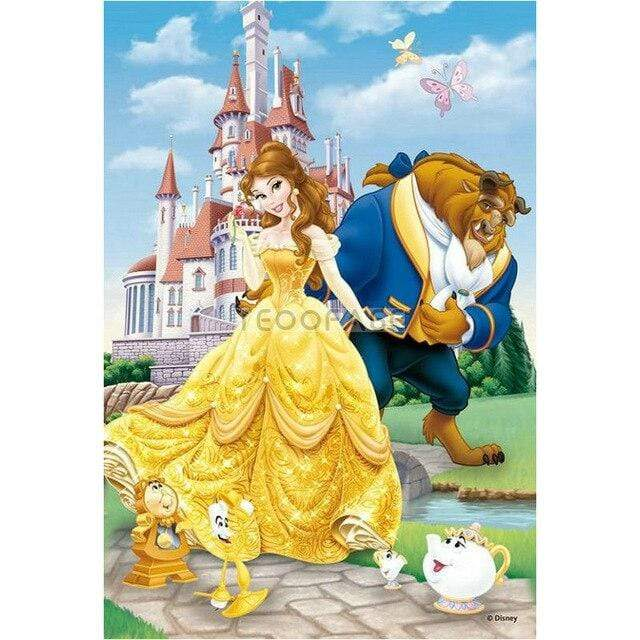 5D Diamond Painting Belle and Beast Castle Kit