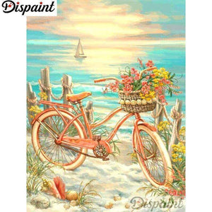 5D Diamond Painting Bicycle on the Beach Kit