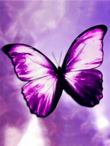 5D Diamond Painting Big Purple Butterfly Kit
