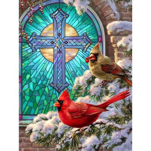 5D Diamond Painting Birds and Cross Kit