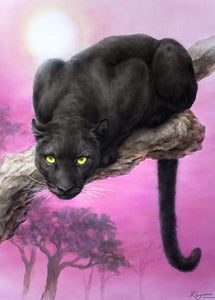 5D Diamond Painting Black Panther on a limb Kit