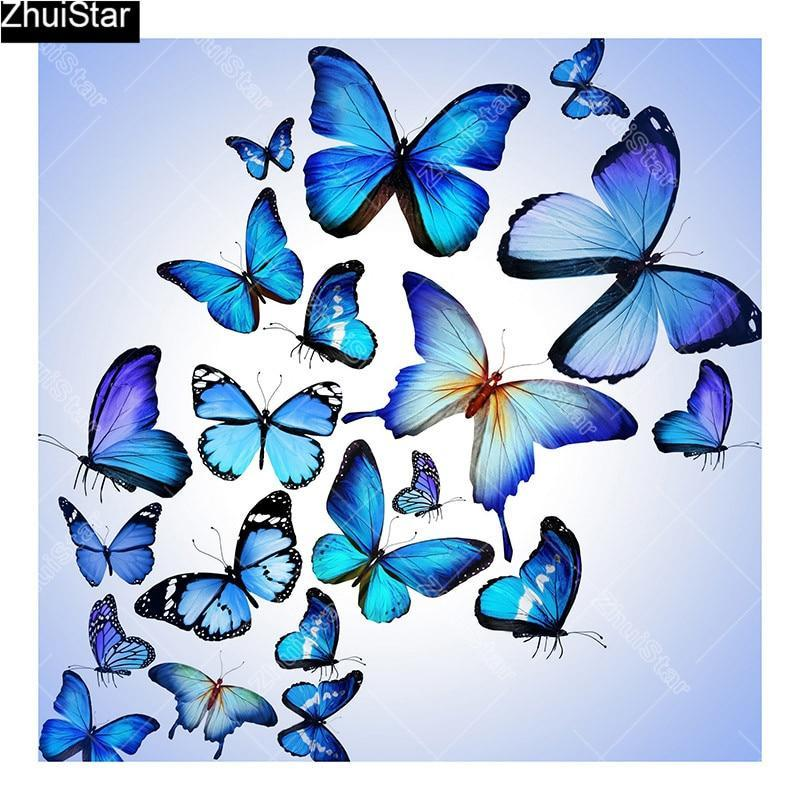 5D Diamond Painting Blue Butterflies Kit