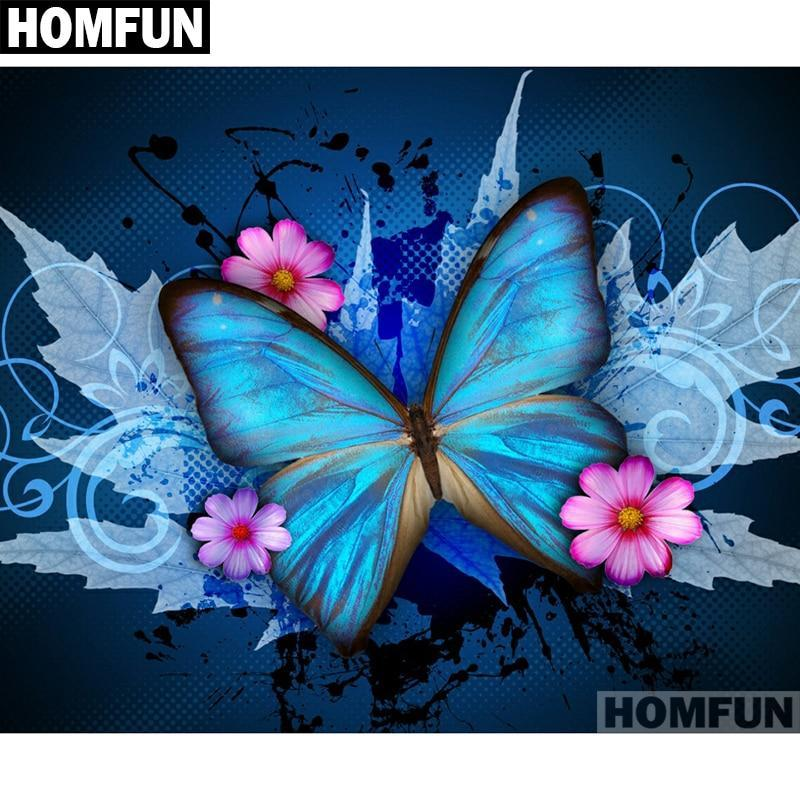 5D Diamond Painting Blue Butterfly Kit