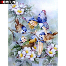 5D Diamond Painting Blue Wing Butterfly Fairy Kit