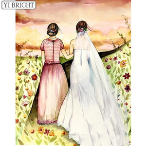 5D Diamond Painting Bride and Maid of Honor Kit