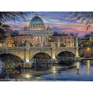 5D Diamond Painting Bridge to the Cathedral Kit