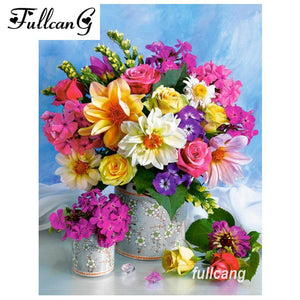 5D Diamond Painting Bright Flower Bouquet Kit