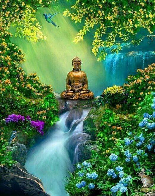 5D Diamond Painting Budha Waterfall Kit