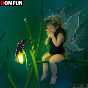 5D Diamond Painting Bug and Baby Fairy Kit