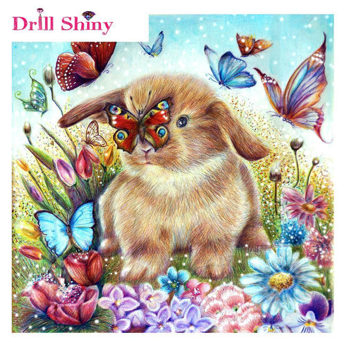 5D Diamond Painting Bunny and the Butterfly Kit