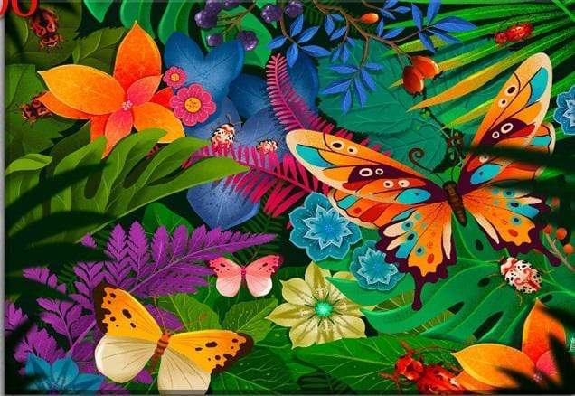 5D Diamond Painting Butterflies in the Jungle Kit