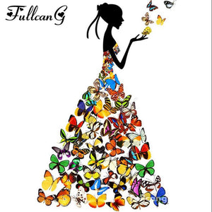 5D Diamond Painting Butterfly Dress Kit