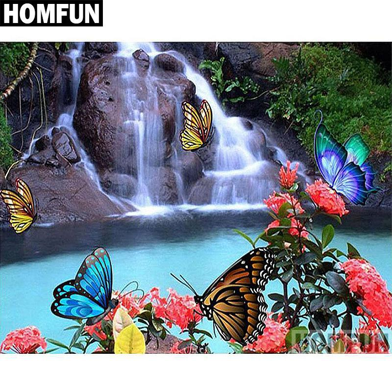 5D Diamond Painting Butterfly Falls Kit