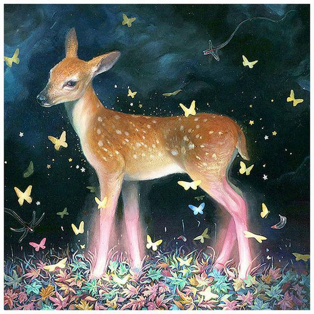 5D Diamond Painting Butterfly Fawn Kit