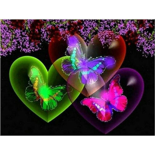 5D Diamond Painting Butterfly Hearts Kit