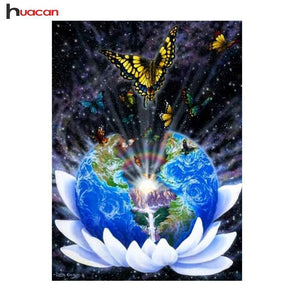 5D Diamond Painting Butterfly World Kit