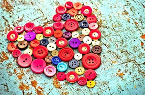 5D Diamond Painting Button Heart Kit