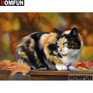 5D Diamond Painting Calico Cat Kit