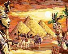 5D Diamond Painting Camels at the Pyramids Kit